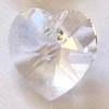 *BULK* Swarovski Heart 6202 ~ 10mm CRYSTAL x 20 pcs