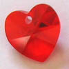 *BULK* Swarovski Heart 6202 ~ 10mm LIGHT SIAM RED x 20 pcs
